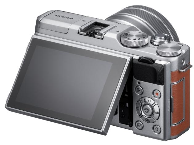 Fujifilm X-A5 widok tył obiektyw LCD