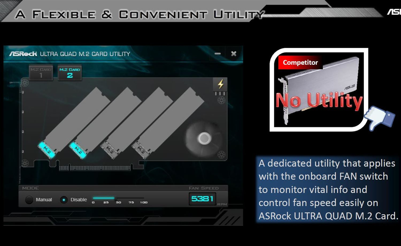 ASRrock Ultra Quad M.2 Card