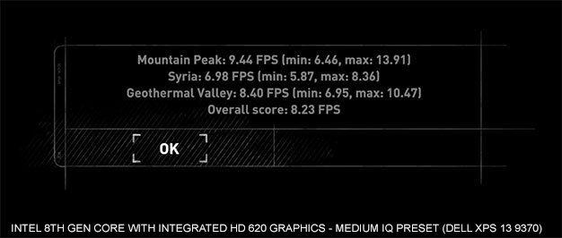Intel Core i7-8550U + UHD 620 - wydajność