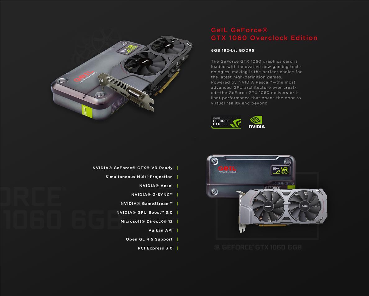 GeIL GeForce GTX 1060 6GB Overclock Edition