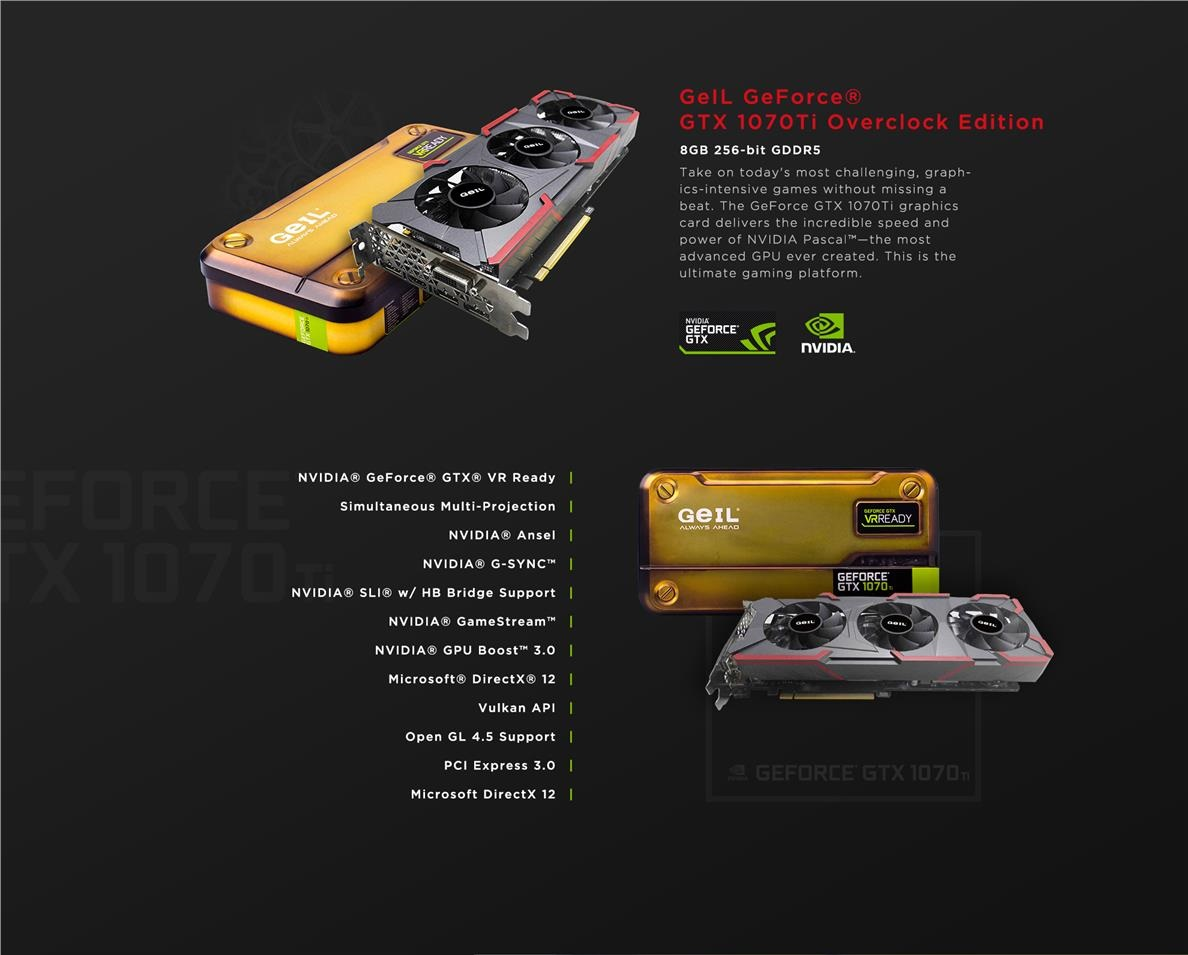 GeIL GeForce GTX 1070 Ti 8GB Overclock Edition