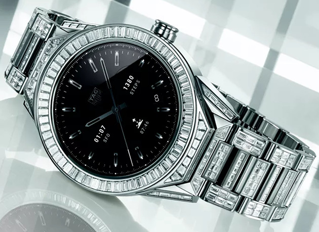 TAG Heuer Connected Modular 45 Full Diamond smartwach