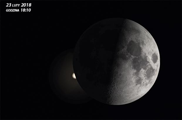 Aldebaran zakrycie przez Księżyc