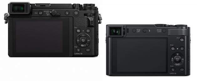Panasonic Lumix GX9 i TZ200 tylna ścianka