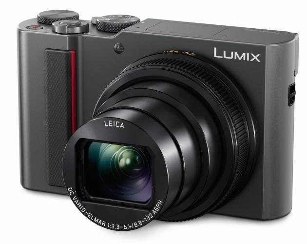 Panasonic Lumix TZ200 widok przód bok