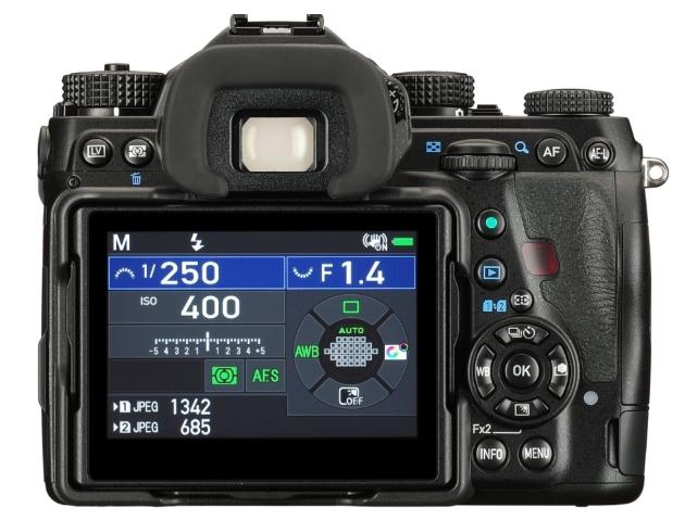 Pentax K-1 Mark II LCD