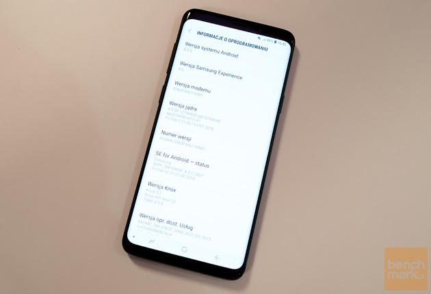 Samsung Galaxy S9+ wersje oprogramowania i sprzętu