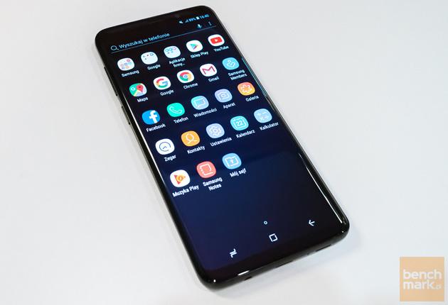 Samsung Galaxy S9+ przód aplikacje