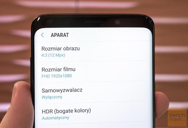 Samsung Galaxy S9+ menu aparatu