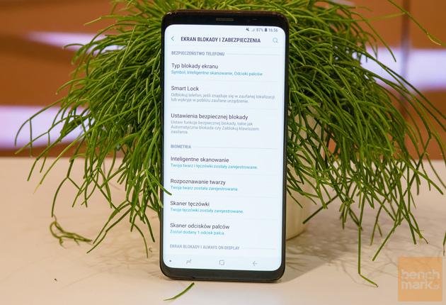 Samsung Galaxy S9+ opcje blokady