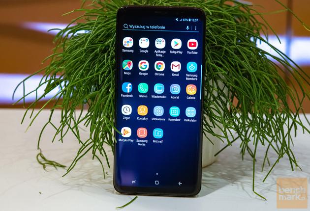 Samsung Galaxy S9+ aplikacje widok przód