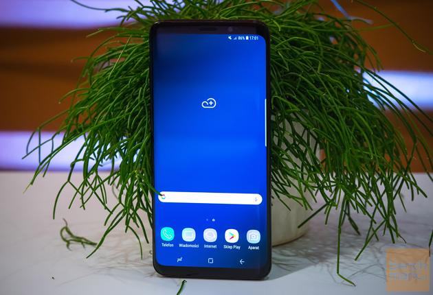Samsung Galaxy S9+ ekran startowy widok przód