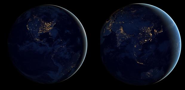 Światła Ziemia Blue Marble