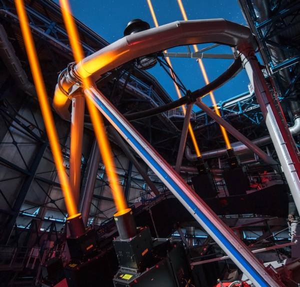 VLT laser sztuczne gwiazdy