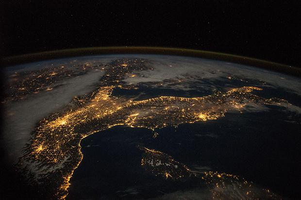 Włochy widok z orbity