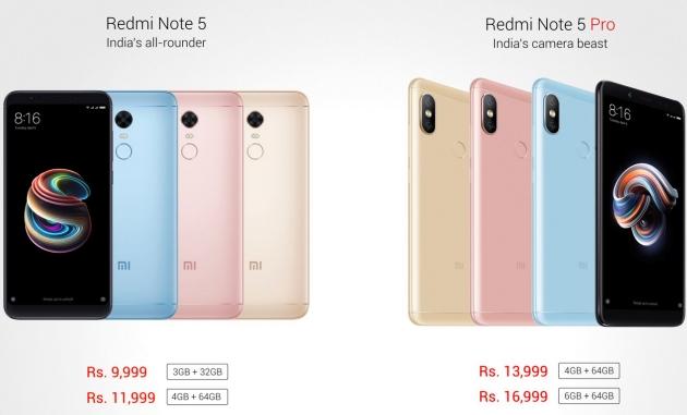 Xiaomi Redmi Note 5 ceny