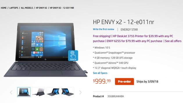 HP Envy x2 - przedsprzedaż