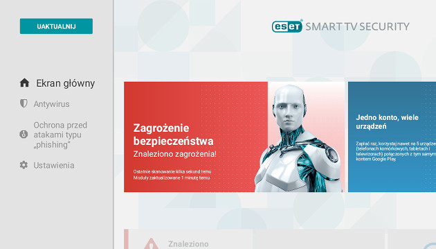 ESET Smart TV Security screen