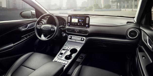 Hyundai Kona Electric wnętrze