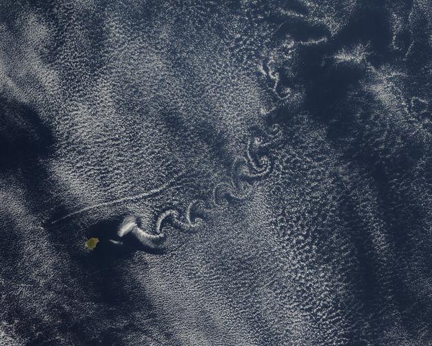 Widok z satelity meteorologicznego