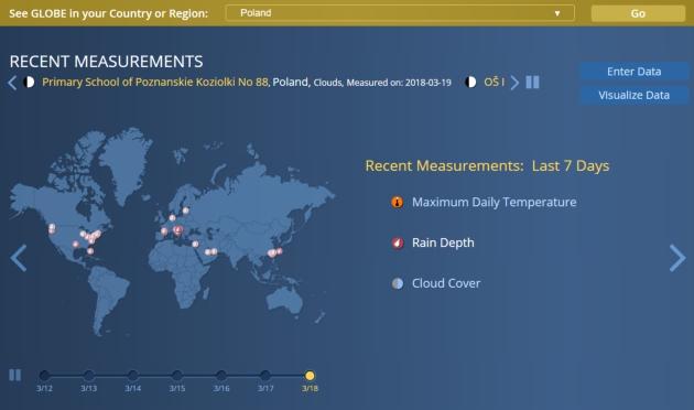 NASA GLOBE Observer strona