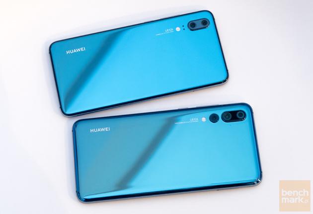 Huawei P20 i P20 Pro z góry