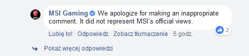MSI - odpowiedź