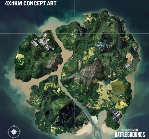 PUBG mapa 4