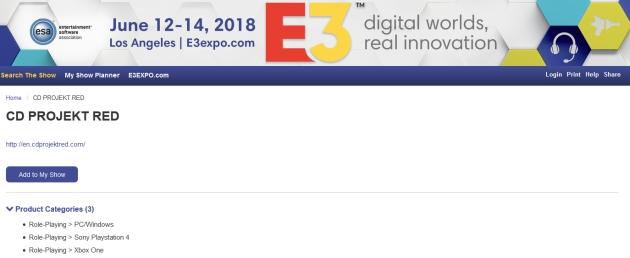 CD Projekt RED na E3 2018