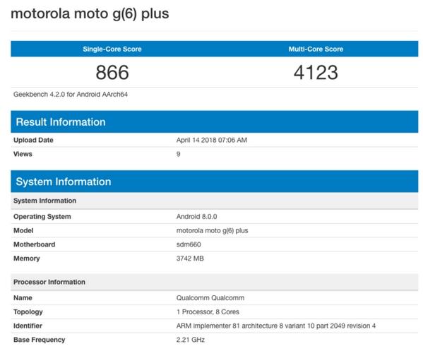 Moto G6 Plus specyfikacja