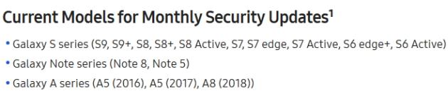 Samsung aktualizacje bezpieczeństwa