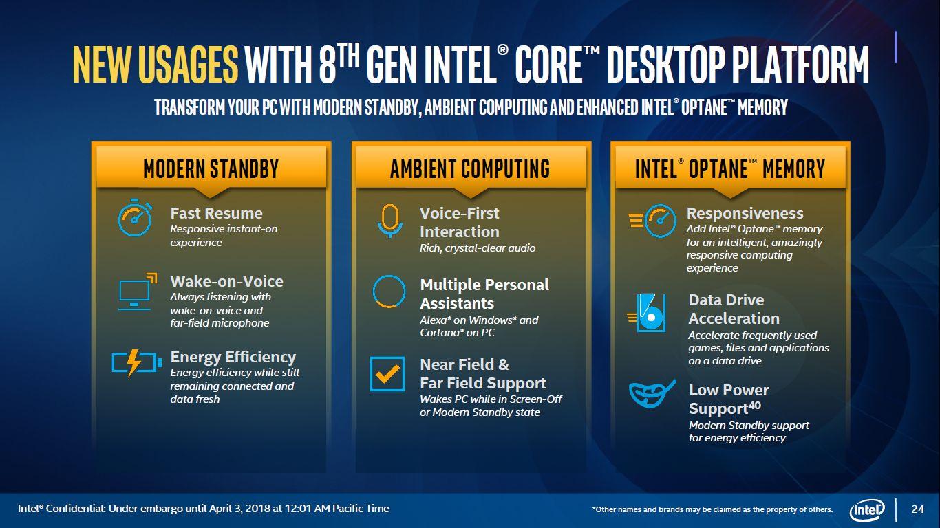 Intel Coffee Lake-S - nowe funkcje