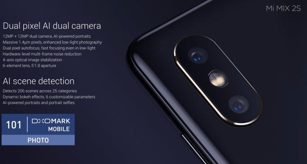 DxOMark Mobile Xiaomi Mi Mix 2S