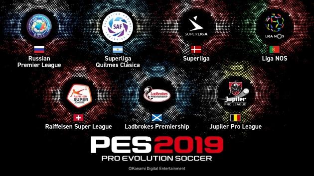PES 2019 nowe ligi