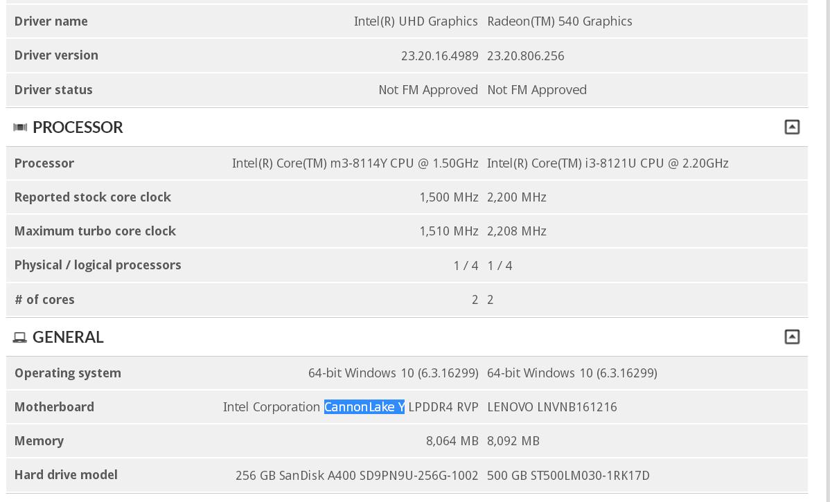 Intel Core m3-8114Y