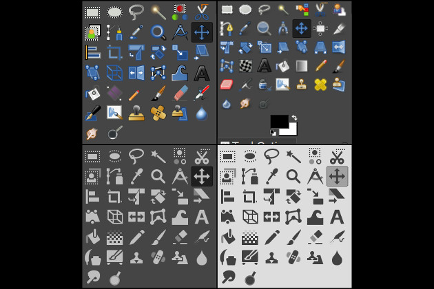GIMP ikony
