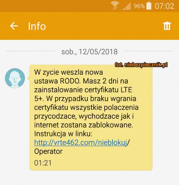 RODO SMS