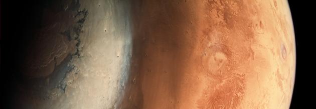 Mars widok z południa na północ