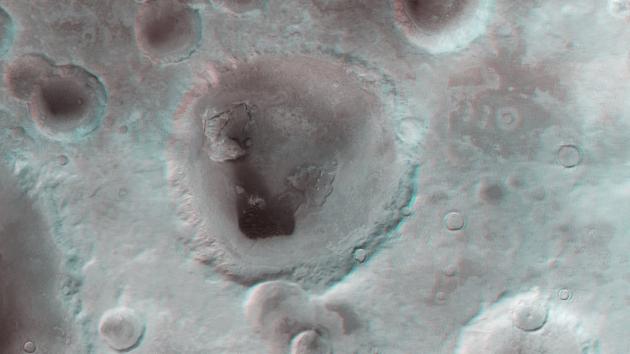 Neukum krater 3D anaglif