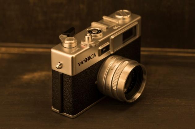 Yashica digiFilm Y35 przód bok
