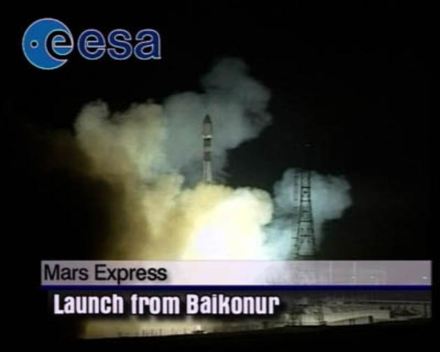 Mars Express start