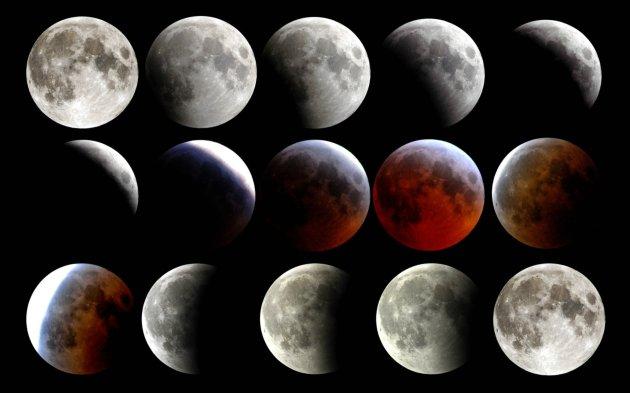 Czerwonawy księżyc