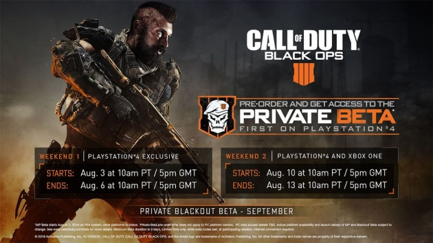 Call of Duty: Black Ops 4 beta konsole