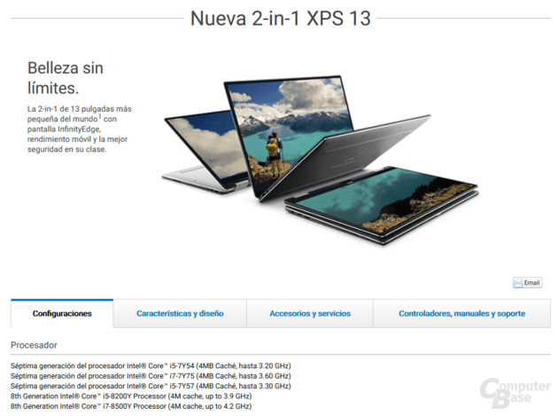 Dell XPS 13 2-in-1 - strona