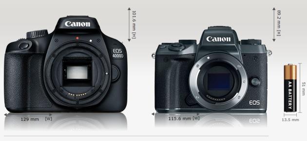 Canon EOS 4000D EOS M5