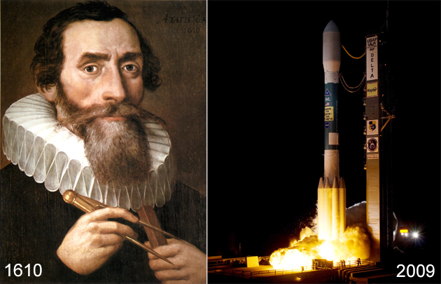 Johannes Kepler i start obserwatorium Kepler