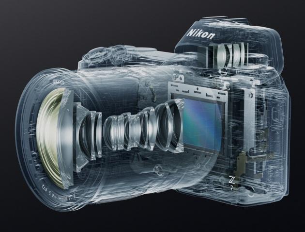 Nikon Z7 szkielet z obiektywem