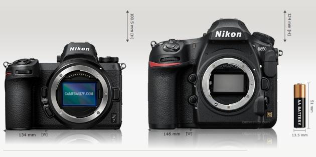 Nikon Z7 i D850