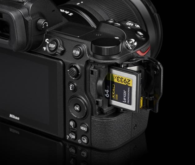Nikon Z sloty XQD