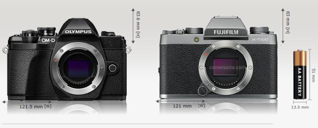 Olympus OM-D E-M10 III i Fujifilm X-T100